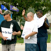 10-3-13  --   Non-essential civilian personel picket in front of the Grissom Air Reserve Base.<br />   KT photo | Tim Bath