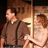 10-4-13<br /> Ole Olsen: Of Mice and Men<br /> John Kirk and Leah Kimm act together in a scene from the first performance of Of Mice and Men at Ole Olsen Memorial Theatre.<br /> KT photo | Kelly Lafferty