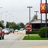 10-1-13  --   Cars trickled out till about 11:30 a.m. when a number of cars started flowing out ot the Grissom Air Reserve Base on Tuesday for the government shutdown.<br />   KT photo   Tim Bath