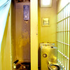 9-18-13  --  A shower and bathroom in one of the cell pods that holds 4 prisoners at the Tipton County Jail.<br />    KT photo | Tim Bath