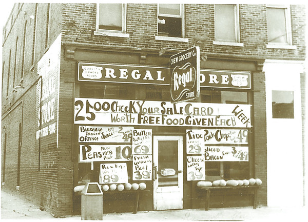 Regal Store, Russiaville, Ind/Honey Creek Township circa 1950's
