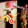 7-12-14<br /> Peru Circus<br /> The Peru Amateur Circus clowns perform an act with Miss Circus City Festival, Madison Hair, during Saturday afternoon's performance.<br /> Kelly Lafferty | Kokomo Tribune