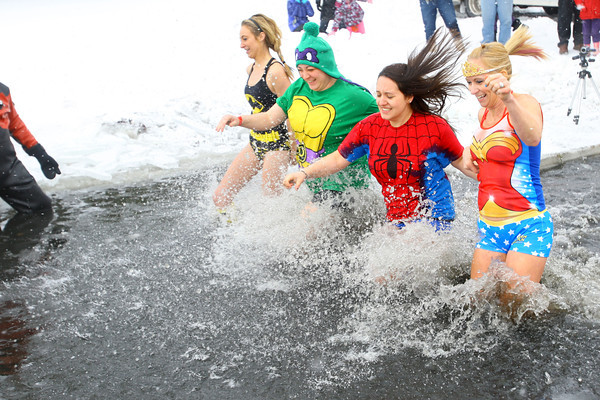 Polar Bear Plunge at Crossroads Community Church benefitting the Special Olympics.<br /> KT photo | Tim Bath