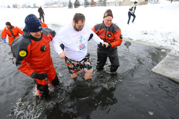 Polar Bear Plunge at Crossroads Community Church benefitting the Special Olympics.<br /> KT photo   Tim Bath