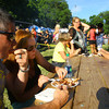 6-13-14 -- Karl and Jill Ferguson enjoying a slab of ribs at Ribfest 2014.    ---<br /> Tim Bath   Kokomo Tribune