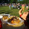 6-13-14 -- Alexander Rosas, 5, with a plate of loaded fries at Ribfest 2014.    ---<br /> Tim Bath   Kokomo Tribune