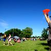 6-13-14 -- Peyton Harrington, 9, playing frisbee with family and friends at Ribfest 2014.    ---<br /> Tim Bath   Kokomo Tribune