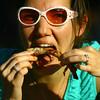 6-13-14 -- Lisa Eidelman eating ribs at Ribfest 2014.    ---<br /> Tim Bath | Kokomo Tribune