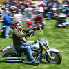 4-27-14<br /> Ride for Troops<br /> A motorcyclist makes his way into Darrough Chapel Park on Sunday afternoon for Ride for Troops.<br /> Kelly Lafferty   Kokomo Tribune