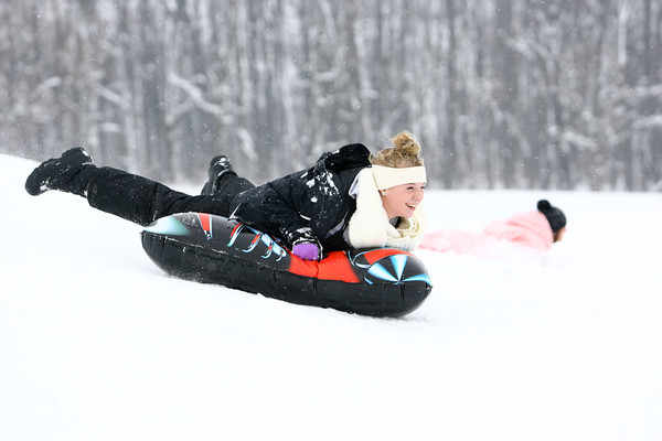 1-9-14   --- Sled riding at Jackson Morrow Park.  -- <br />   KT photo | Tim Bath