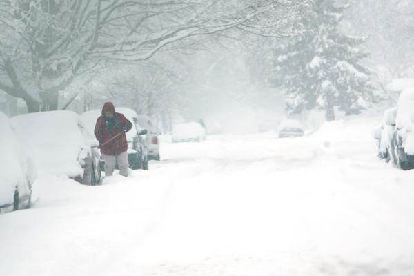 1-5-14   --- Heavy snow blanketed Kokomo and surrounding areas. -- <br />   KT photo | Tim Bath