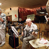 9-1-13<br /> Swampwater Stompers 20th Anniversary<br /> Tom Gustin (center) plays the banjo.<br /> KT photo | Kelly Lafferty