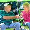 9-28-13  --   Richard and Faye Taylor share a strawberry shortcake while sitting next to their 1971 VW bug at Oktoberfest held at Ivy Tech Community College Kokomo Event & Conference center.<br />   KT photo | Tim Bath