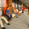 9-20-13  --  First people to get the new iPhone 6 at the AT&T store. Customers like Kirk Paprocki wait outside the store before 8 a.m. for the latest iPhone. He is getting it for his son.<br />    KT photo | Tim Bath