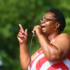 8-31-13<br /> Gospel Fest<br /> Jearlene Wilson of Fountain of Life Worship Center sings at Foster Park on Saturday.<br /> KT photo | Kelly Lafferty