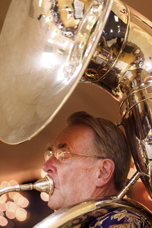 9-1-13<br /> Swampwater Stompers 20th Anniversary<br /> Dean McKamey plays the sousaphone in Swampwater Stompers.<br /> KT photo   Kelly Lafferty