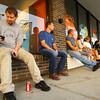 9-20-13  --  First people to get the new iPhone 6 at the AT&T store. Customers like Kirk Paprocki wait outside the store before 8 a.m. for the latest iPhone.<br />    KT photo | Tim Bath