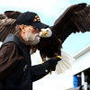 9-21-13<br /> Saturday's Vietnam Vet reunion<br /> Roger Wallace takes an eagle to the stage during Saturday's Vietnam Veteran reunion.<br /> KT photo | Kelly Lafferty