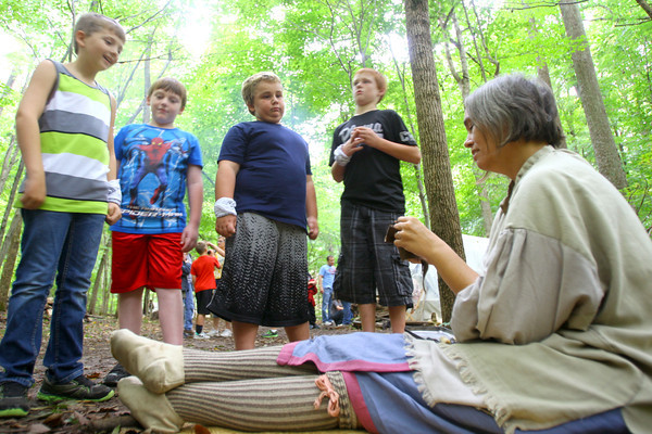 9-20-13  --  Koh-Koh-Mah & Foster Encampment with 4th graders, about 1700 of them, visiting.<br />    KT photo | Tim Bath