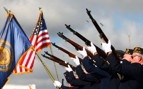 9-21-13<br /> Saturday's Vietnam Vet reunion<br /> Greentown American Legion Post 317 does a 21-gun salute during Saturday's opening ceremonies of the Vietnam Veteran reunion.<br /> KT photo | Kelly Lafferty