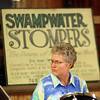 9-1-13<br /> Swampwater Stompers 20th Anniversary<br /> Diane Haley plays the drums in the Swampwater Stompers.<br /> KT photo | Kelly Lafferty