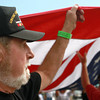 9-13-12<br /> Vietnam Vet Reunion<br /> Ray Lindahl helps carry the flag during the opening ceremonies of the Vietnam veteran reunion on Thursday. Lindahl, who is from Clymer, Penn. served in the coast guard from 1967-68. <br /> KT photo | Kelly Lafferty