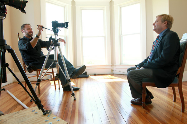9-11-12<br /> Dunham house<br /> Steve Zukerman interviews Nelson Price about the history of the Dunham house and the area around it for the documentary film project.<br /> KT photo   Kelly Lafferty