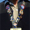 9-12-12<br /> Airstream campers converging on Tipton County Fairgrounds. Robert Koch wearing his nametag with pins  from the different Airstream stops that he and his wife have attended.<br /> KT photo | Tim Bath