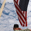 9-13-12<br /> Vietnam Vet Reunion<br /> A veteran salutes the American flag during the opening ceremonies of the Vietnam veteran reunion on Thursday.<br /> KT photo | Kelly Lafferty