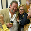 9-15-12 <br /> Kim Fipps Art Gallery<br /> Artist Kim Fipps hugs Kokomo native Debbie Dillman on Saturday at his art show.<br /> KT photo | Kelly Lafferty