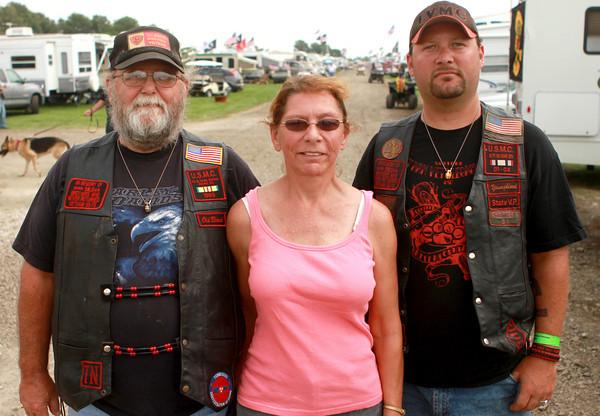 9-13-12<br /> Vietnam Vet reunion<br /> Leonard Swann, Cheri Swann, and their son Ryan Swann attended the Vietnam Veteran reunion.<br /> KT photo | Kelly Lafferty