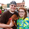 9-28-12<br /> Out and About Oktoberfest<br /> Steve Lockhart and Ariel Iles and Prime (dog)<br /> KT photo | Kelly Lafferty