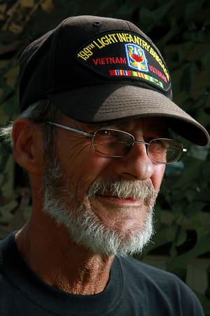 9-13-12<br /> Vietnam Vet Reunion<br /> Larry Winger is a Vietnam veteran of the 199th light infantry brigade.<br /> KT photo   Kelly Lafferty