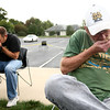 9-20-12<br /> Homebrewing at the library<br /> Kenny Ortman (left) and Tim Gaskill smell the samples of hops that were given to them during the homebrewing demonstration at the library.<br /> KT photo | Kelly Lafferty