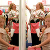 """9-12-12<br /> New Justice store at Markland Mall<br /> """"We used to drive all the way to Indy for Justice,"""" said Mistie Jinks. Jinks and her 6-year-old daughter Paiten shopped at the new Justice store in Kokomo for a school picture outfit on Wednesday.<br /> KT photo 