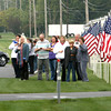 9-28-12 <br /> Sgt. Bradley Atwell's remains are flown into Grissom AFB and brought to Chapel Hill Christian Church with a procession about 2 miles long including about 250 motorcycles from the Patriot Guard on Friday morning. Pulling into the church.<br /> KT photo | Tim Bath