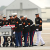 9-28-12 <br /> Sgt. Bradley Atwell's remains are flown into Grissom AFB and brought to Chapel Hill Christian Church with a procession about 2 miles long including about 250 motorcycles from the Patriot Guard on Friday morning.<br /> KT photo | Tim Bath