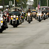 9-28-12 <br /> Sgt. Bradley Atwell's remains are flown into Grissom AFB and brought to Chapel Hill Christian Church with a procession about 2 miles long including about 250 motorcycles from the Patriot Guard on Friday morning. The procession traveling off the base.<br /> KT photo | Tim Bath