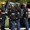 9-29-12 <br /> Funeral for Marine Sgt. Bradley Atwell<br /> The body is removed at Albright Cemetery.<br /> KT photo | Tim Bath