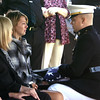 9-29-12 <br /> Funeral for Marine Sgt. Bradley Atwell<br /> Danielle Atweell, Bradley's wife, receiving the flag that was drapped over the coffin.<br /> KT photo | Tim Bath