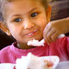 6-5-14   --- Adison Hizer, 3, eating ice cream from her strawberry shortcake at Strawberry Festival downtown. --<br />   Tim Bath | Kokomo Tribune