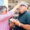 6-5-14   --- Joyce Hollingsworth feeds Mike Whiteman a bite of the strawberry shortcake they were sharing at the Strawberry Festival downtown. --<br />   Tim Bath | Kokomo Tribune