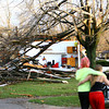 Cedar Crest subdivision tornado damage.<br />   KT photo | Tim Bath