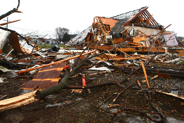 A Sunday tornado caused damage to areas at Home Avenue and Hoffer Street.<br /> KT photo | Kelly Lafferty