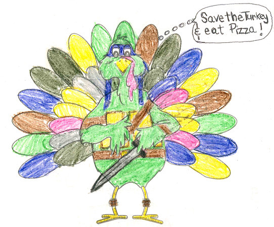 "Dane Trent<br />  ""Ninja Turtle Turkey"" <br /> School: Western Primary School <br /> Age: 5"