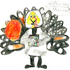 "Esther Joy Gollner <br /> ""Moon Turkey"" <br /> City: Kokomo <br /> Age: 10"