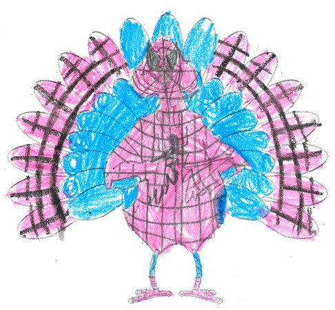 "Michael BAker <br /> ""Spider-turkey"" <br /> School: Pettit Park <br /> Age: 10"
