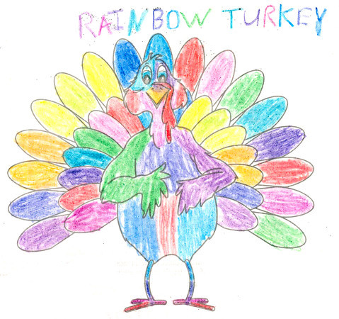 "Susan McCartney <br /> ""RAINBOW Turkey"" <br /> City: Kokomo <br /> Age: 11"