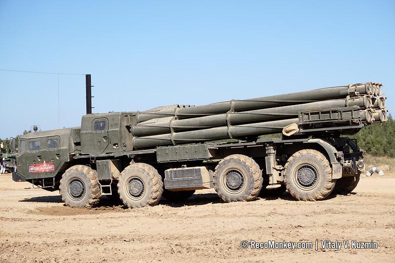9A52-2 launcher of 9K58 / BM-30 Smerch MLRS