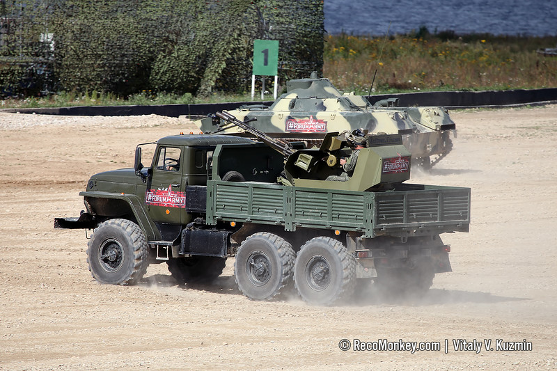 ZU-23M on Ural-4320 chassis
